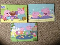 Peppy pig puzzles