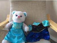 Build a bear Disney frozen limited edition bear and dress