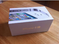 APPLE IPHONE 4S, 16GB , WHITE ON O2 ,WITH CHARGER ,AND BOXED BRAND NEW CONDITION