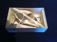 Ivory Satin Wedding Shoes (size 7/4)