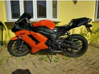 2007 Kawasaki ninja zx6r wildfire orange