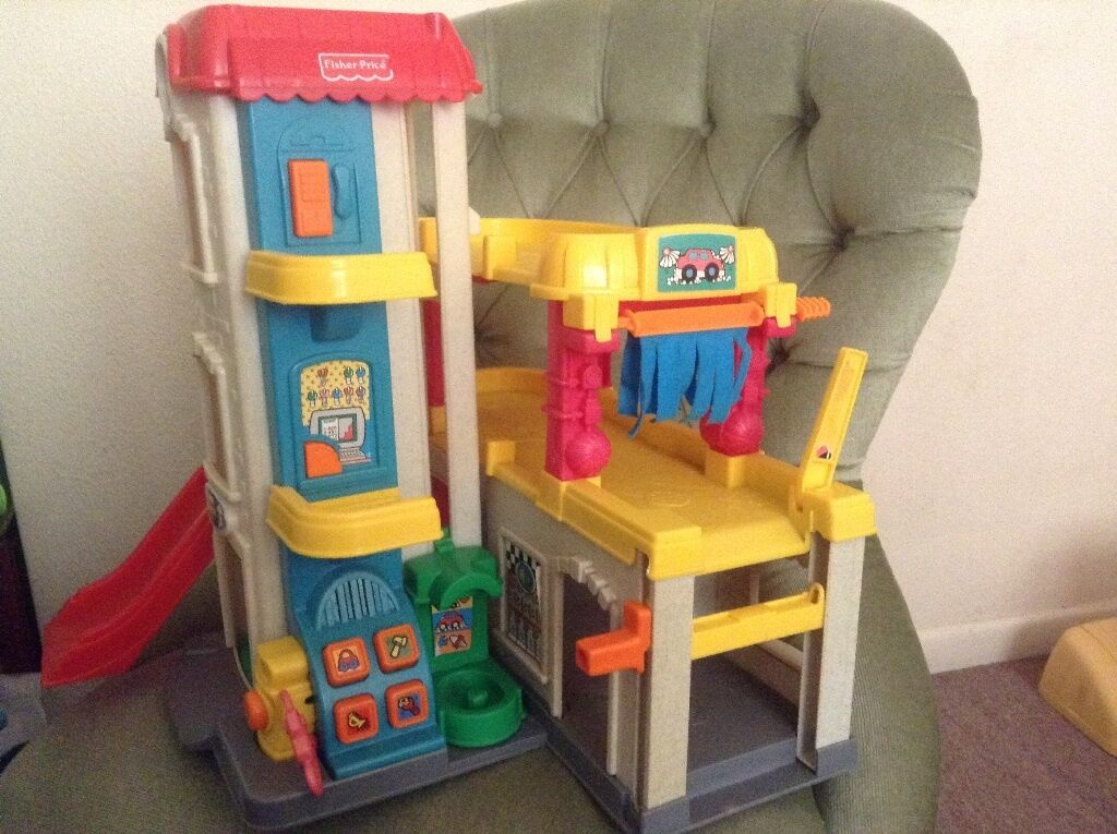 fisher price toy garage multi storey car park in exeter. Black Bedroom Furniture Sets. Home Design Ideas