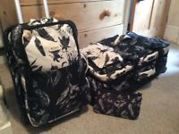 New ROXY luggage set Suitcase Travel Bags Holiday Cabin Bag university.