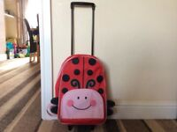 Kids ladybird suitcase! 2 in 1 backpack and suitcase! Perfect for travelling!