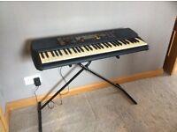 Yamaha psr-195 keyboard with stand