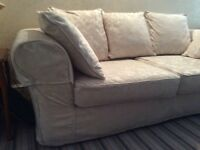 Large John Lewis Chesterfield sofa in Ivory