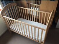 Mamas and Papas Wooden Cot