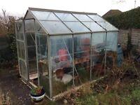 Alluminium greenhouse