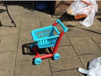 Childs shopping push trolley