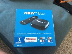 Now tv box new unused