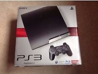Sony Playstation 3 Slim, 250 GB. 2 Controllers. Remote & Games. AS NEW!