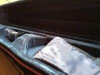 4/4 light violin case black and pink
