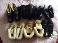 Ladies boots ,size 5 ,and 2 pair of dress shoes size 4