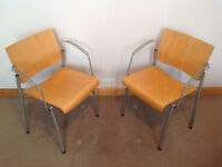Pair of Vintage Ahrend Stacking Chairs