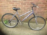 Ladies Raleigh Mountain Bike Front Suspension 18 speed