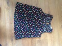 River island multi coloured elephant top size 10