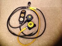 Diving equipment..Spiro by Aqualung regulator set with triple console