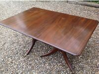 Extendable Wooden dining table seats 4-8. Only this price as no room to store it.