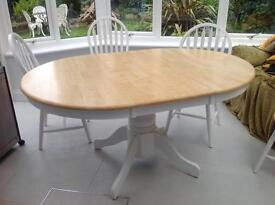 Farmhouse style Dining Table and 4 chairs