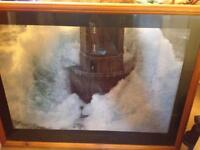 Framed lighthouse picture