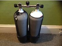 12 litre 232 bar twinset