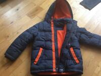 ST GEORGE by DUFFER boys padded winter coat age 5-6 years
