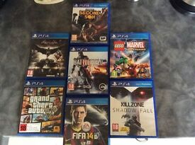 Ps4 games URGENT NEED TO GO £75 ALLTOGETHER