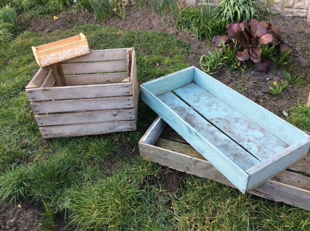 Rustic Wooden Crates Garden Flower Boxes In Gorleston Norfolk Gumtree