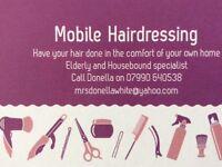 Mobile Hairdresser for housebound and elderly