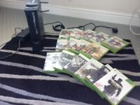 Xbox 360 with a variety of games