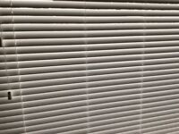 True White Faux Wood Blinds