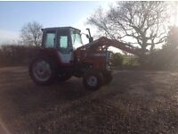 Massey Ferguson 698 with front loader , 98hp