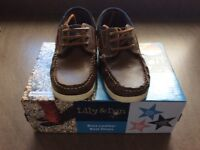 Boys brown leather boat shoes size uk12 excellent condition worn once