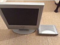 Portable TV and accompanying freeview box