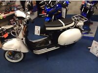Brand New AJS Modena 125cc Scooter, Classic Vespa style, CBT learner legal