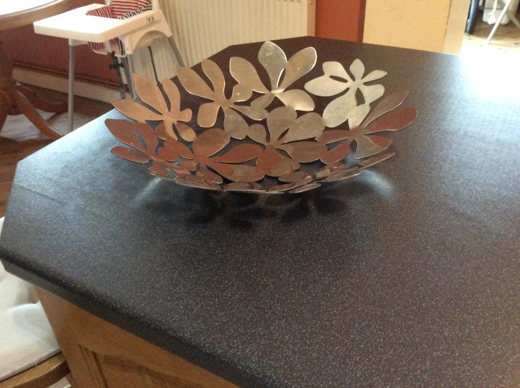 Ikea metal fruit bowl