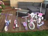 Free - selection of kids scooters and bikes