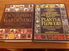 RHS encyclopaedia of plants & flowers and RHS encyclopaedia of gardening