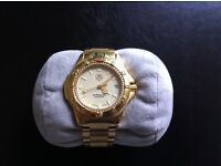 Tag Heuer 4000 Series Professional Men's Gold Watch with Box and all Papers.