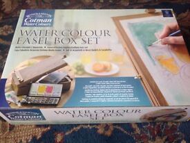 Water Colour Easel Box Set and Water Colour Paper