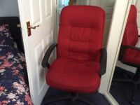 High Back Red Fabric Managers Chair