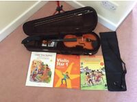 Stentor 1/2 size violin and equipment