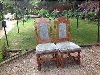 Pair of chairs bride and groom wedding vintage shabby chic