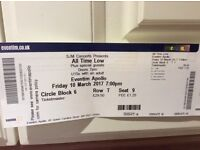 All Time Low tickets x2 London Apoolo theatre March 10th good seats both together to be sold as pair