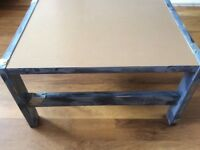 Unusual Coffee table grey distressed industrial style very sturdy