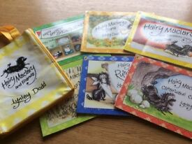 Set of six Hairy Maclary paperback child books in a cloth bag