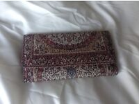 Large tapestry purse