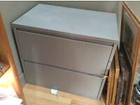 Metal Two Drawer Cabinet Free