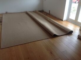 """Brand New Unfitted Carpet - Abbey Natural in """"Oatcake"""" 4 m x 4.3 m"""