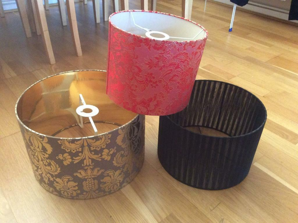 Lampshades different sozes